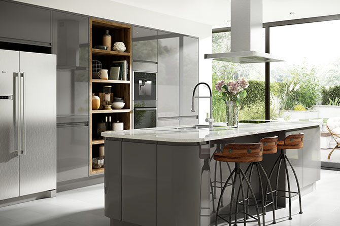 Holborn Gloss Grey Kitchen Range