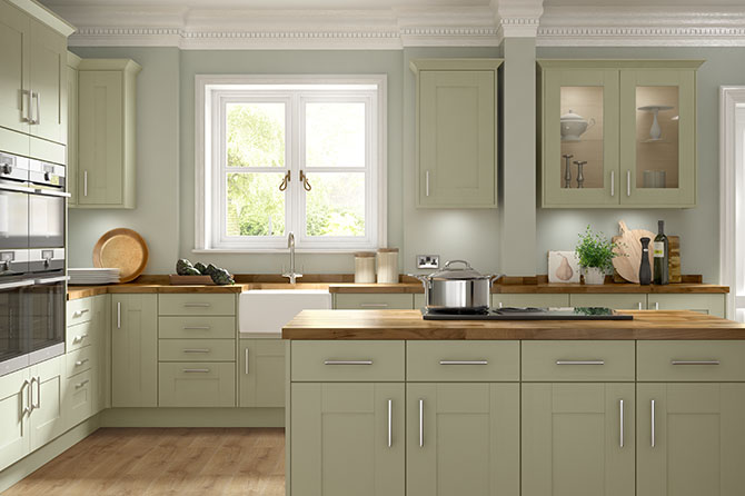 Somerset Olive Green Kitchen Range