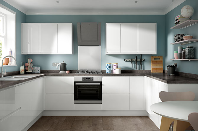 Soho Gloss White Kitchen Range