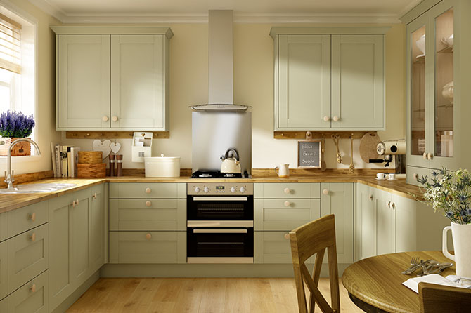 Oxford Olive Green Kitchen Kitchen Range