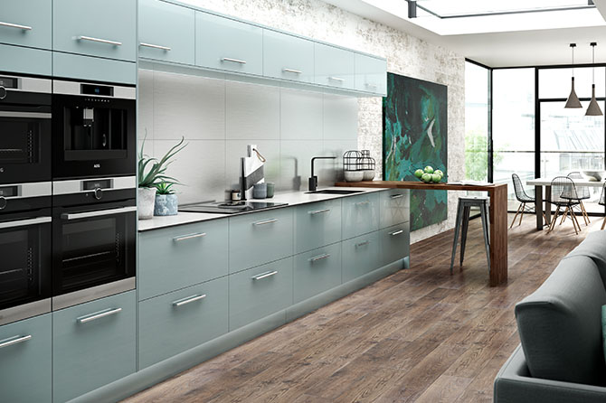 Nordica Blue Kitchen Designer Kitchens Range Benchmarx