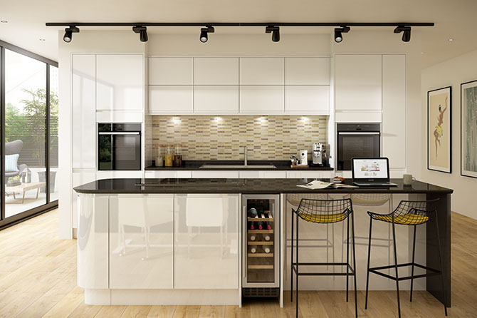 Holborn Gloss White Kitchen Range