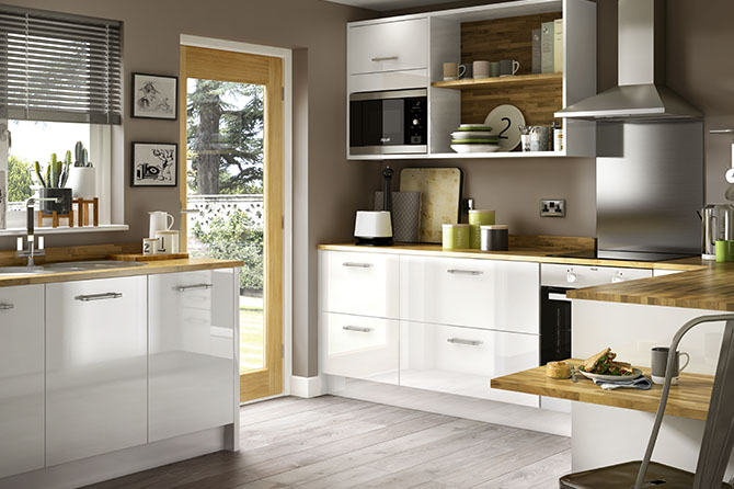 High Gloss White Kitchens Eton Range Benchmarx