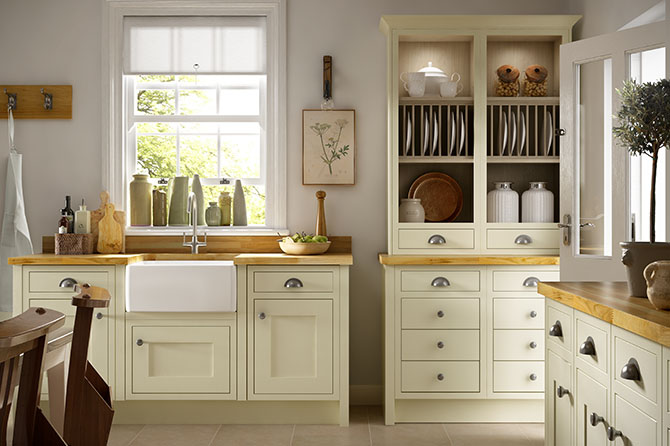 Borrowdale Bone White Kitchen Range