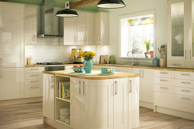 Turin Gloss Cream Kitchen Range