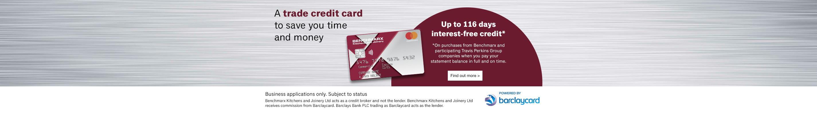 Benchmarx Trade Credit Card
