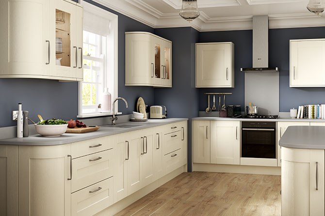 Sherwood Bone White Kitchen Kitchen Range
