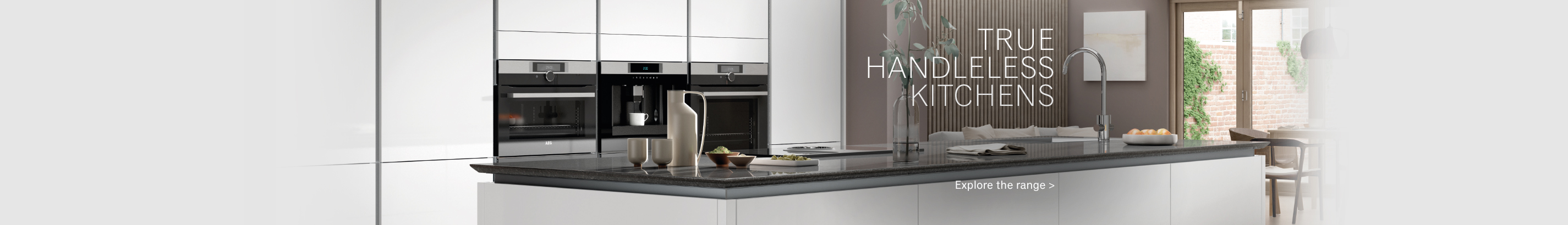 True Handleless Kitchen Ranges